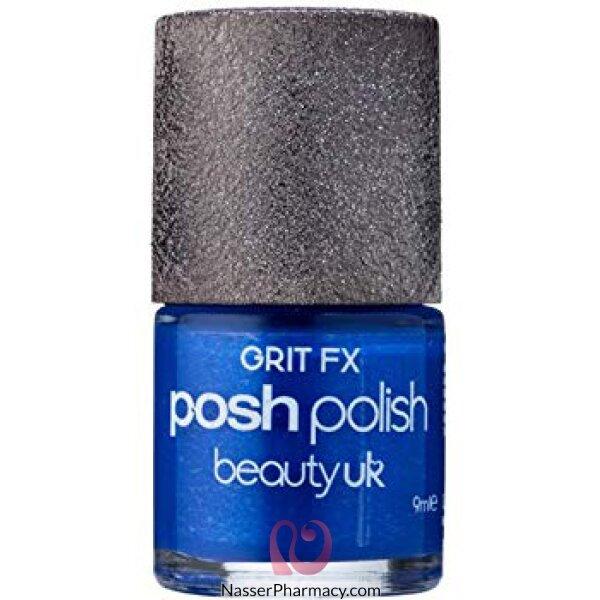 Beauty Uk Posh Nail Polish-grit Fx-shoreditch Ele Blue