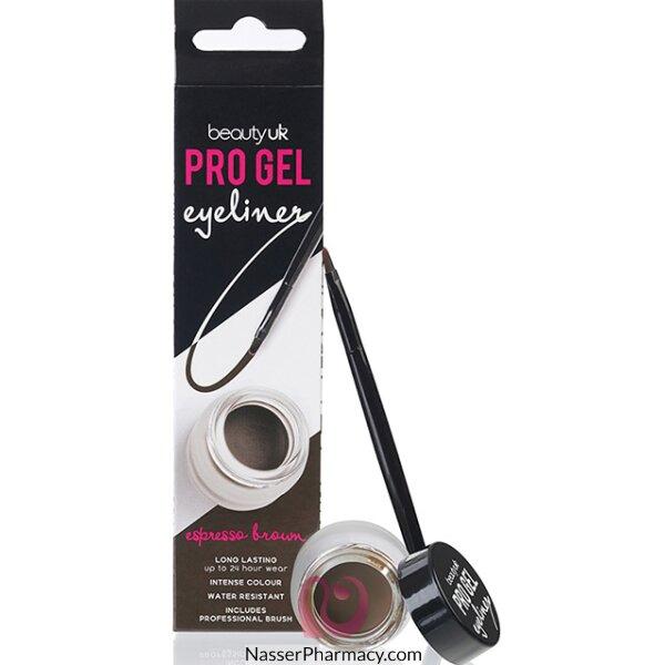 Beauty Uk Pro Gel Eyeliner - No.2 Espresso Brown-be2169/2