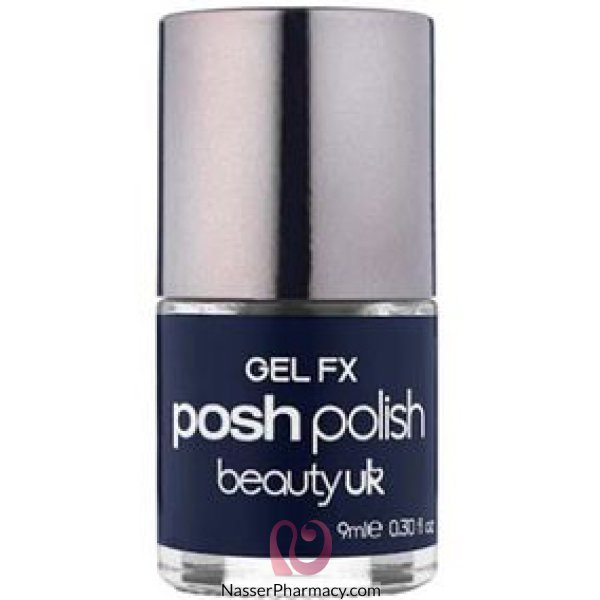 B/uk Posh Polish-gel Fx-midnight Iris(drk Blu)-be2128/29