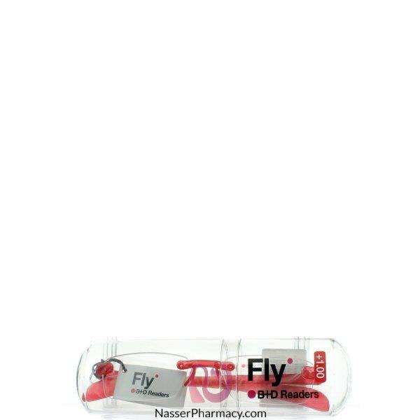 B+d نظارة طبية للقراءة صغيرة الحجملون أحمر  -1,00