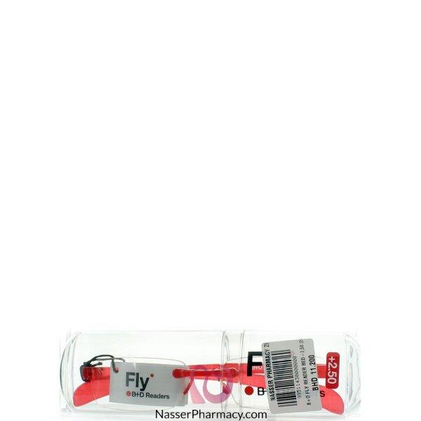 B+d نظارة طبية للقراءة صغيرة الحجم لون أحمر +-2,50