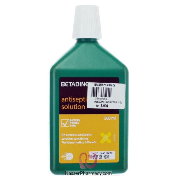 Betadine Antiseptic Sol 500ml