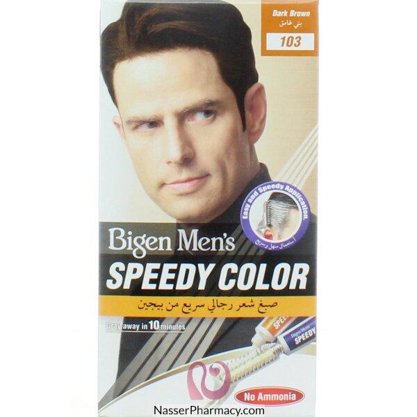 تسوق أونلاين بيجين Bigen صبغة شعر سريعة للرجال بني غامق 103 من صيدليات ناصر البحرين