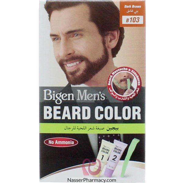 Bigen Men's Beard Color D.brown