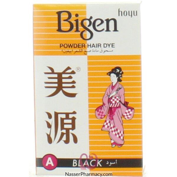 Bigen Powder Hair Dye A - Black  6g