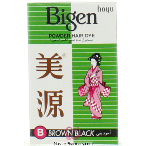 Bigen Powder Hair Dye B - Brown Black 6g