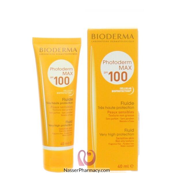 بيوديرما (bioderma)  فوتوديرم ماكس سائل بمعامل حماية من الشمس100  -- (40مل)