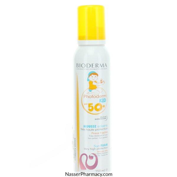 بيوديرما  ( Bioderma  Foam Photoderm Kid Mousse ) رغوة لحماية الأطفال من أشعة الشمس 150 مل