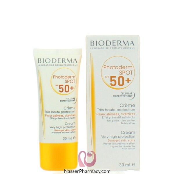 بيوديرما (bioderma)- Photoderm Spot Spf 50 - كريم حماية من أشعة الشمس والتصبغ  30 مل
