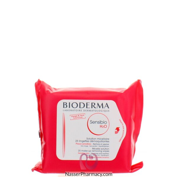 Bioderma Sensibio H2o Cleansing Wipes 25 Sheets And Make-up Removing