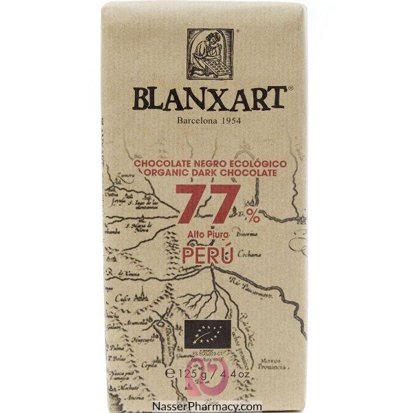 بلانكسارتblanxart شوكولاتة طبيعية داكنة 77% بيرو  125 جرام