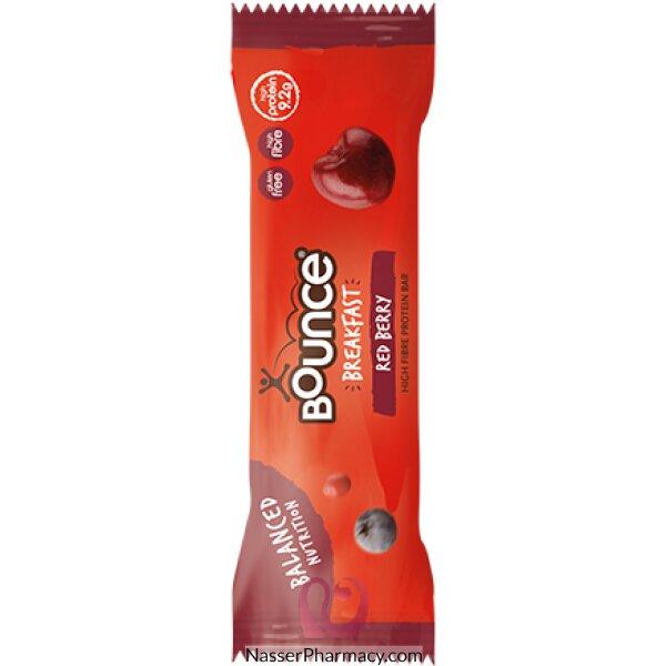 Bounce Bounce Breakfast Raspberry High Fibre Protein Bar 45g
