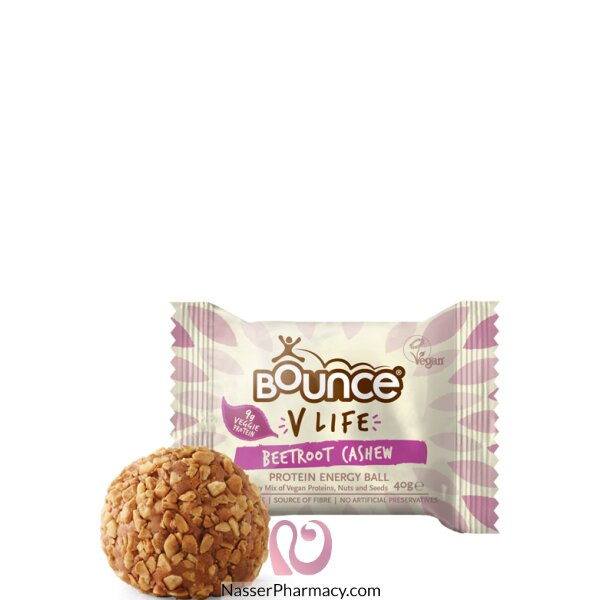 Bounce V Life Protein Energy Ball Beet Root Cashew 40g