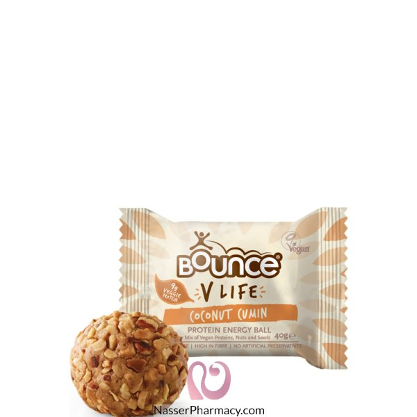 Bounce Vlv Prot Energy Ball C/nut Cumin Box Of 12