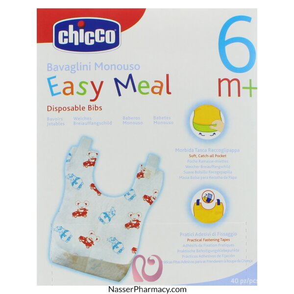 Chicco Disposable Bibs - 40pcs