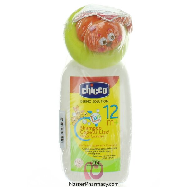 Chicco Shampoo For Straight Hair 300 Ml +toy +12 M