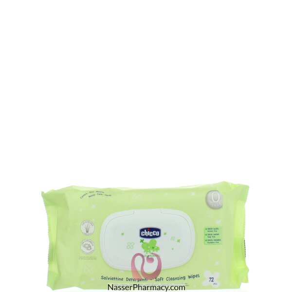 Soft Cleansing Wipes Baby Moments 72 Pieces