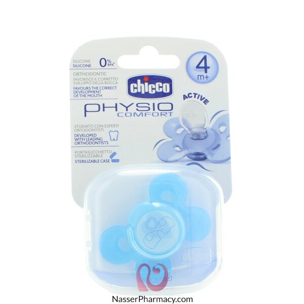 Soother Physio Comfort Blue Silicone +4months -1 Pcs