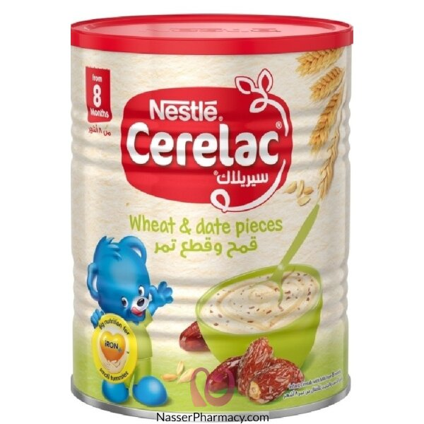 Cerelac Wheat And Date Pieces - From 8 Months -  400g