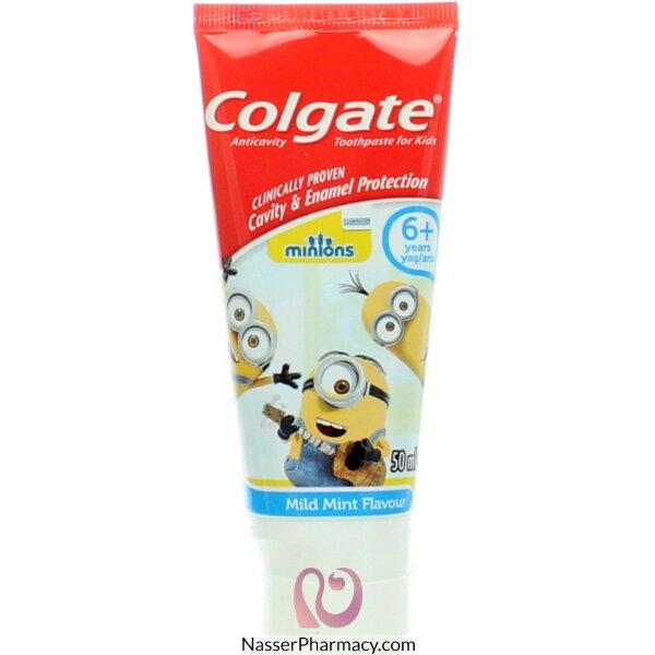 كولجيت معجون أسنان منيونز - للأطفال من عمر 6 سنوات فما فوق 50 مل