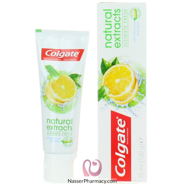Colgate Tooth Paste Natural Extracts Lemon 75ml