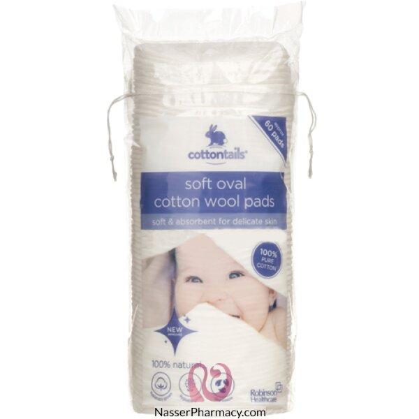 روبنسون Cottontails  ضمادات قطن بيضاوية للأطفال - 60 قطعة