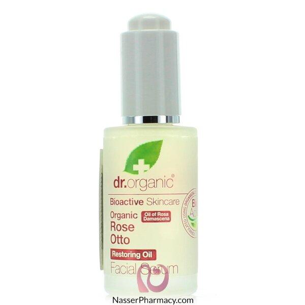 د.أورجانك  Dr Organic  سيروم للوجه بخلاصة زيت الورد -30مل