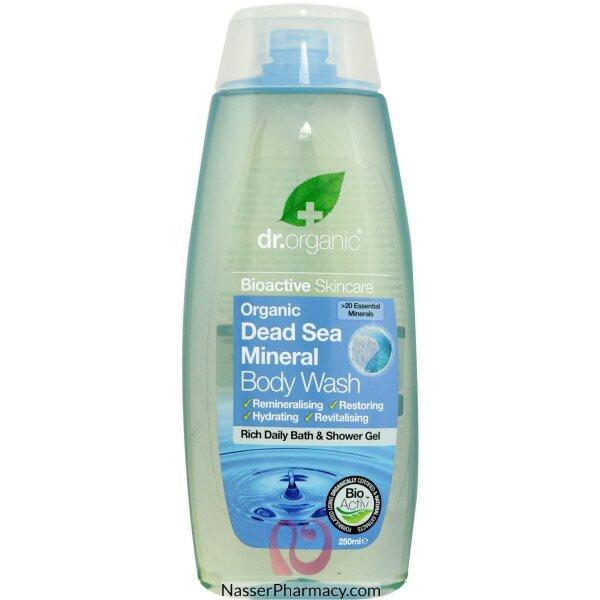 د.أورجانك Dr Organic  غسول استحمام بخلاصة معادن البحر الميت - 250مل