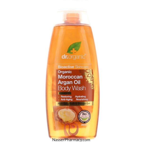 د.أورجانك  Dr Organic  غسول للجسم بزيت الأرجان المغربي - 250مل