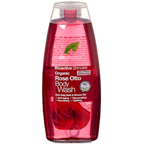 د.أورجانك  Dr Organic  غسول للجسم بزيت الورد - 250مل