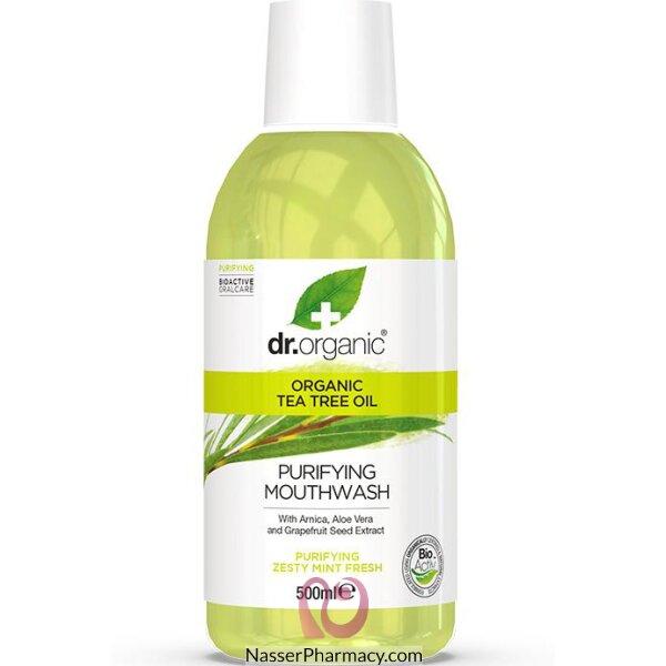 د.أورجانك Dr Organic  غسول للفم بخلاصة شجرة الشاي - 500مل