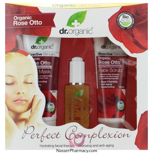 د.أورجانك Dr Organic  مجموعة عناية هدية بزيت الورد