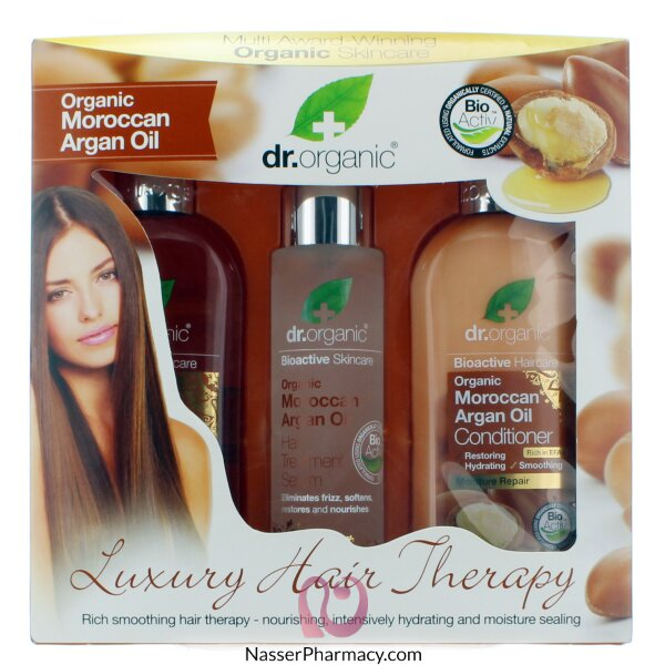د.أورجانك Dr Organic   مجموعة هدية علاج الشعر بزيت الأرجان