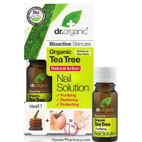 د.أورجانك  Dr Organic محلول للأظافر بخلاصة شجرة الشاي - 100مل