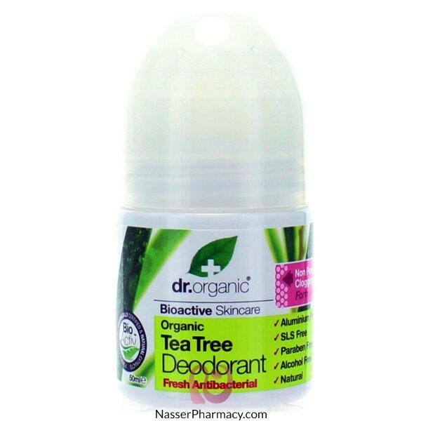د.أورجانك Dr Organic  مزيل عرق بخلاصة شجرة الشاي - 50مل