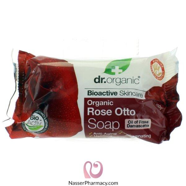 د.أورجنك  Dr Organic  صابون بزيت الورد - 100جم