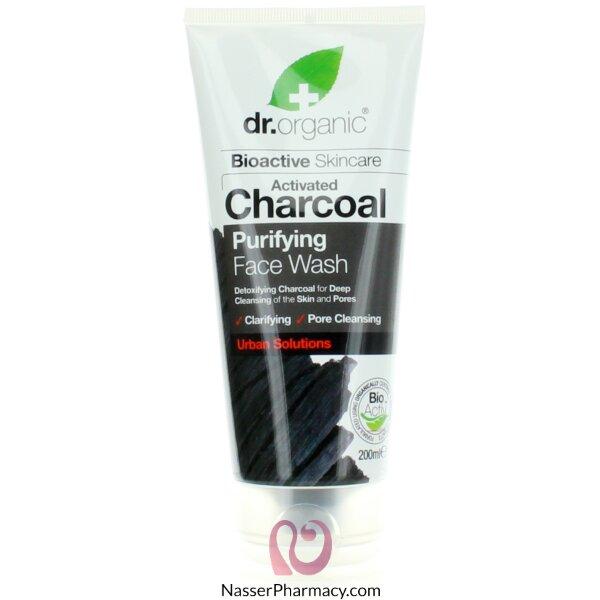 دكتور أورجانيك Dr. Organic غسول الوجه بالفحم 200 ملل-00545