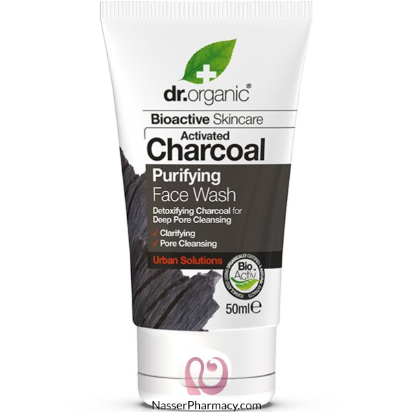 دكتور أورجانيك Dr. Organic غسول الوجه بالفحم 50 ملل-dr00597