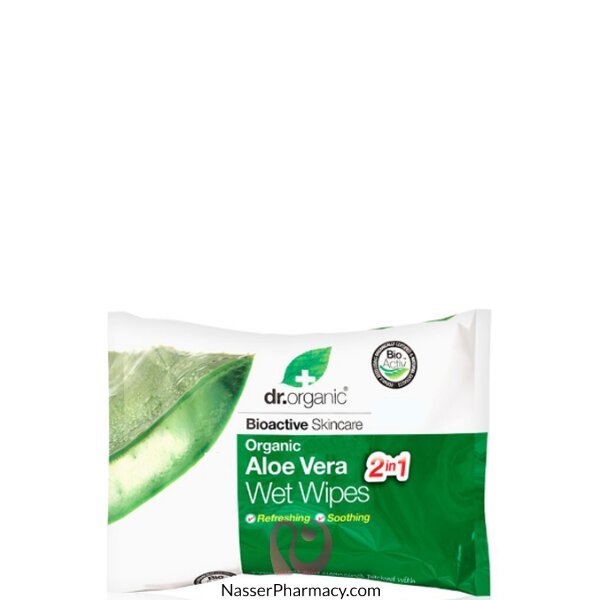 Dr Organic Aloe Vera - 20 Wet Wipes