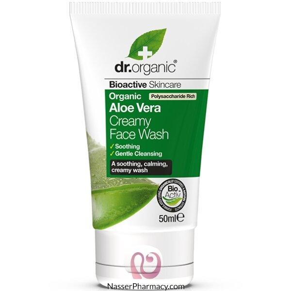 Dr. Organic Aloe Vera Creamy Face Wash 50ml-dr00594