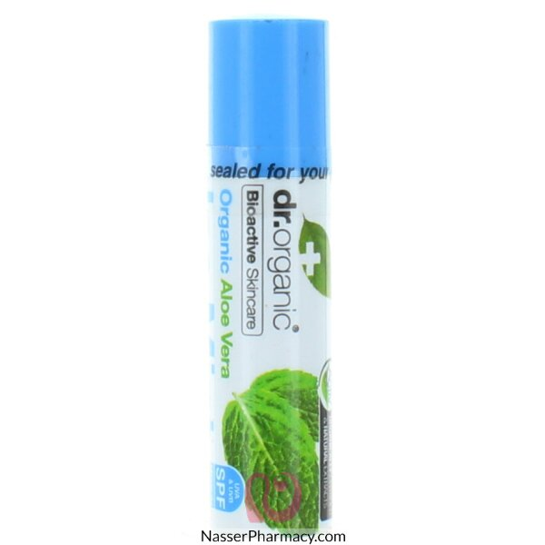 Dr Organic Aloe Vera Ice Mint Spf 15 Lip Balm - 5.7ml