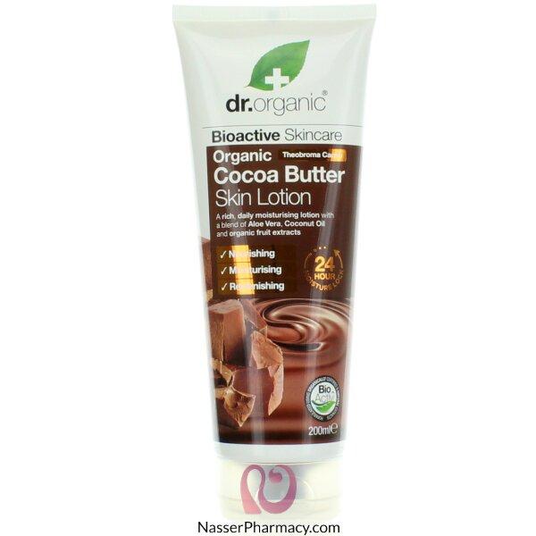 Dr. Organic Cocoa Butter Skin Lotion 200ml-00537