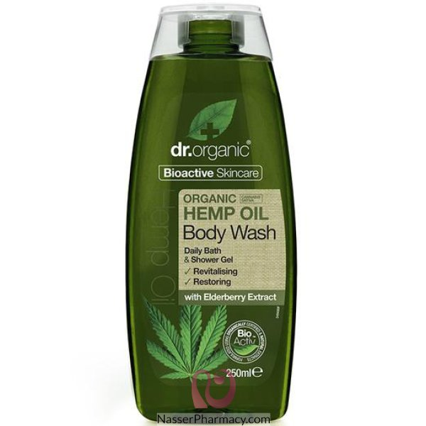 Dr. Organic Hemp Oil Body Wash 250ml-00494