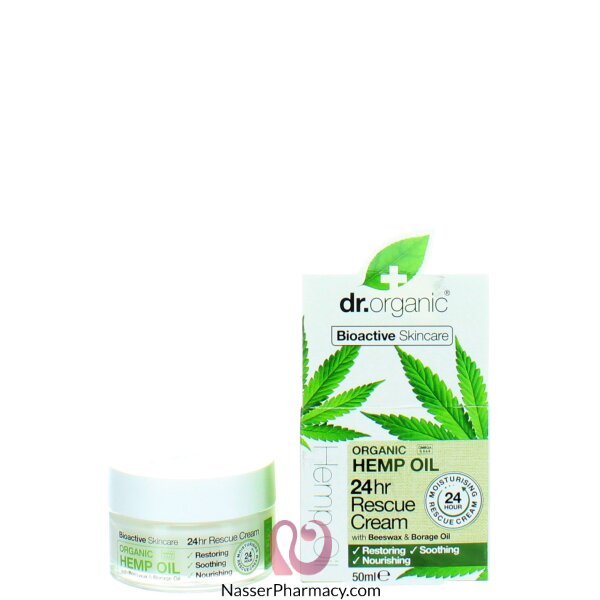Dr Organic Hemp Oil Rescue Cream 50ml