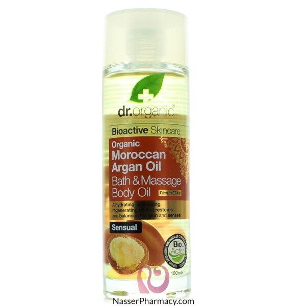 Dr Organic Moroccan Argan Oil Bath & Massage Body Oil - 100ml