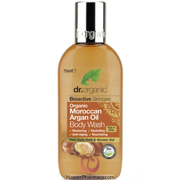 Dr. Organic Moroccan Argan Oil Body Wash 75ml-dr00464