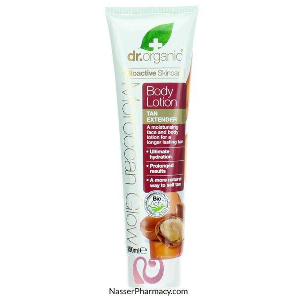 Dr Organic Moroccan Glow Body Lotion Tan Extender 150 Ml