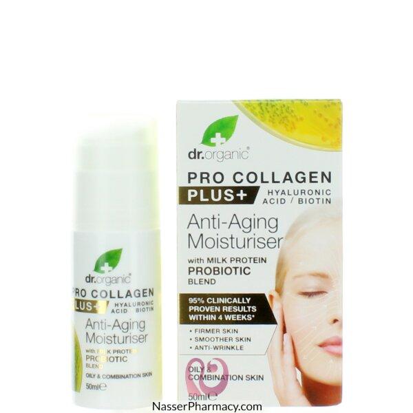 Dr. Organic Pro Collagen+ Anti-aging Moisturiser With Milk Protein Probiotic Blend 50ml-00559