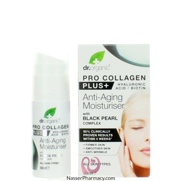 Dr. Organic Pro Collagen + Black Pearl Anti-aging Moisturiser 50ml-00560