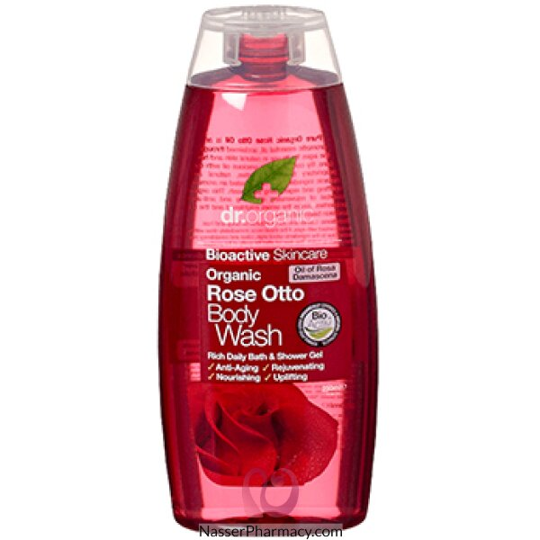 Dr Organic Rose Otto Body Wash - 250ml